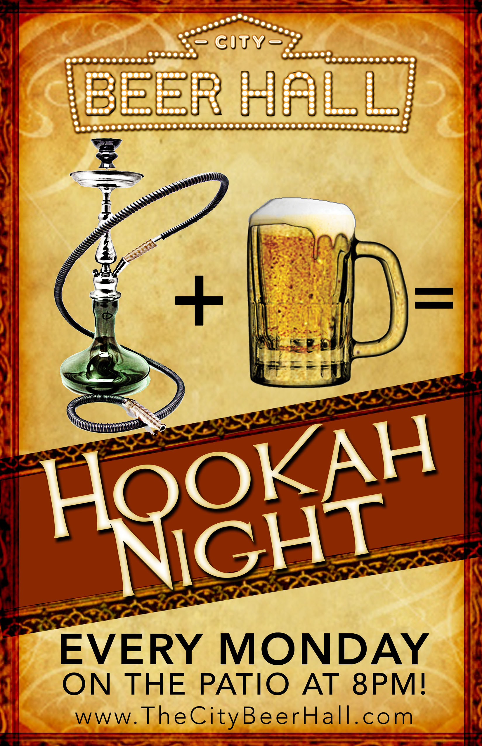 CityBeerHall Hookah Night